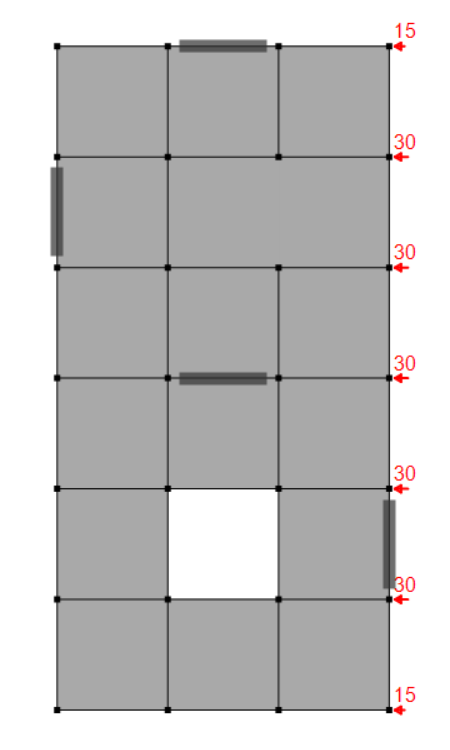 Stringer model of concrete diaphragm – Model